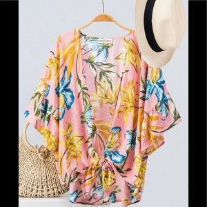 Sweaters - Floral kimono cardigan ( COMING )